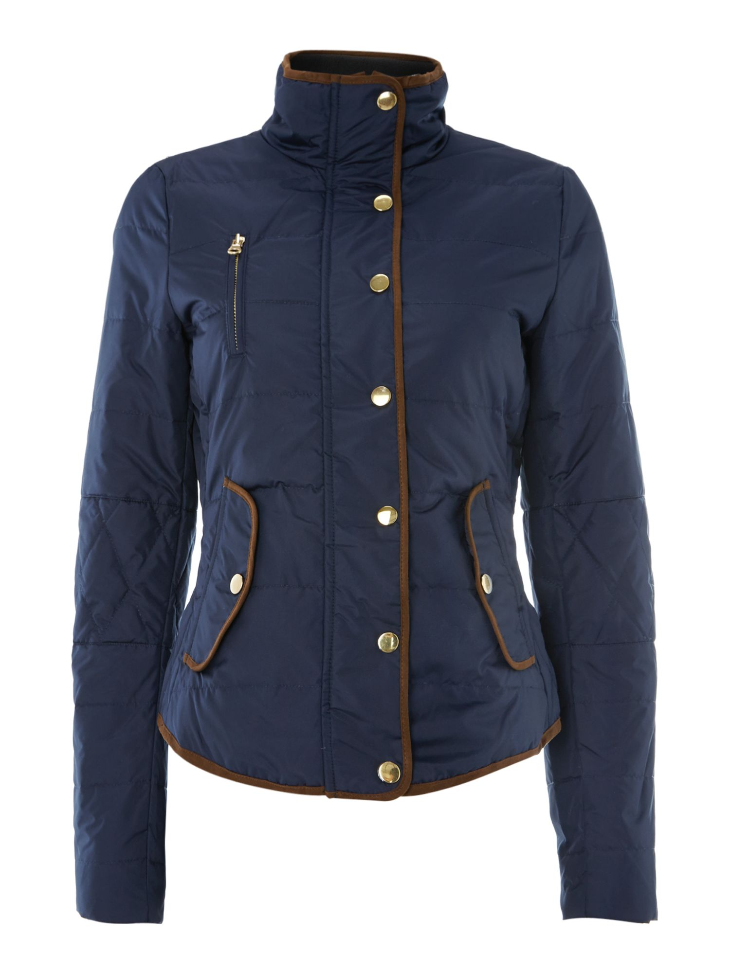 Padded contrast piping jacket