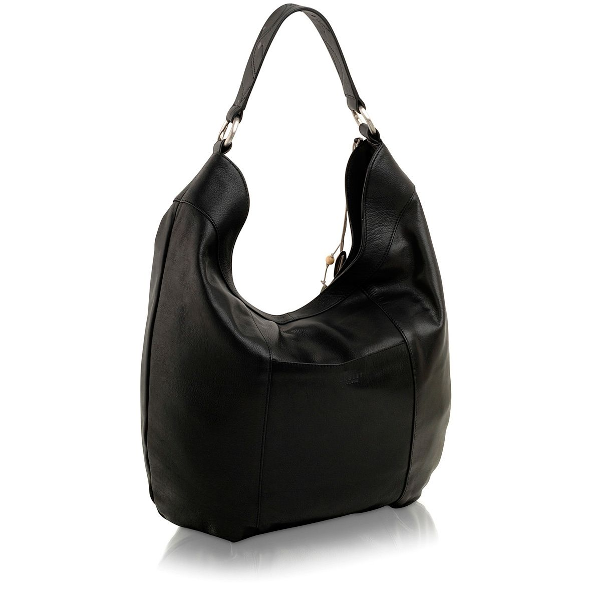 Black large scoop shoulder bag