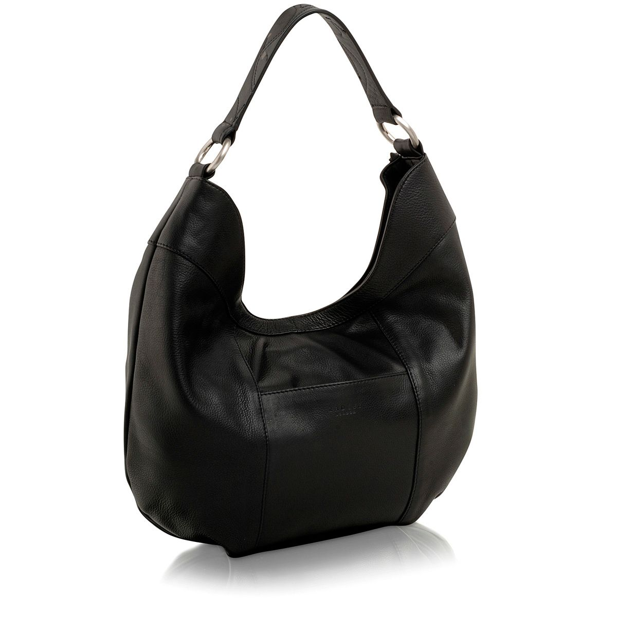 Black medium scoop shoulder bag