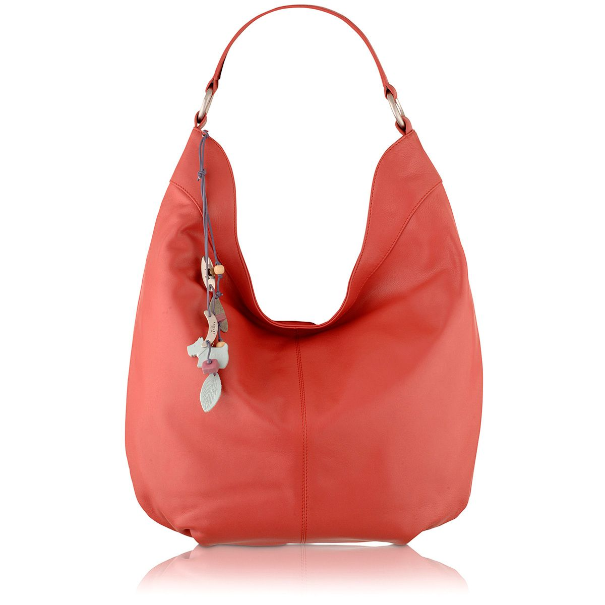 Pink large scoop shoulder bag