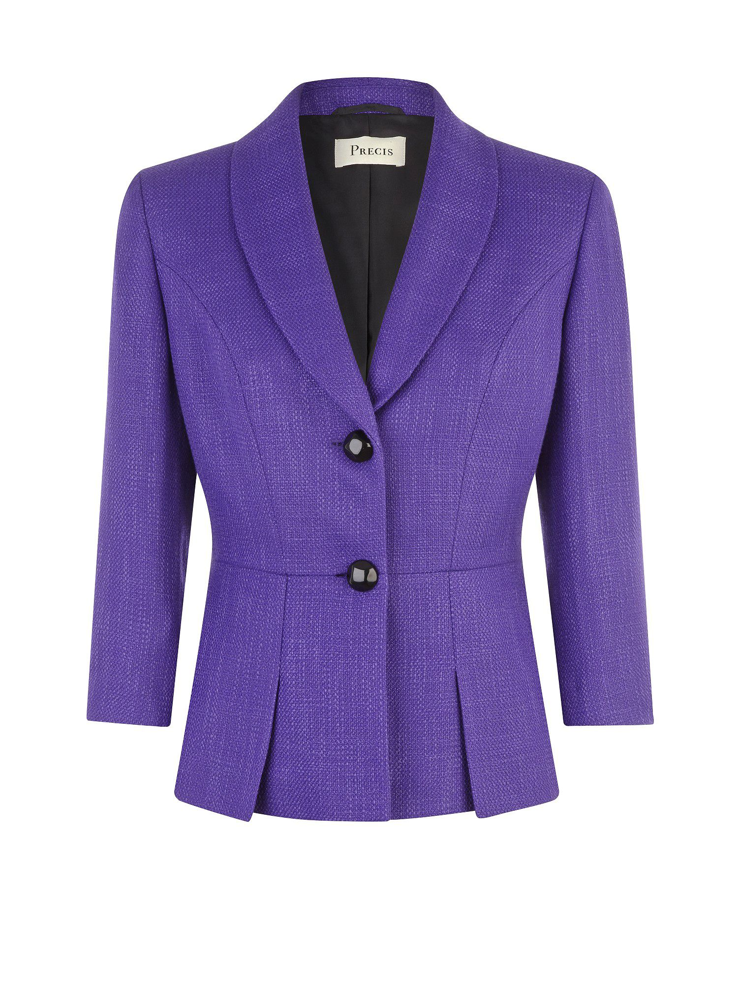 Ultra violet pleat detail jacket