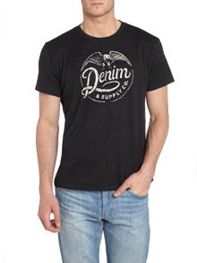 Short sleeve crew indy label printed t shirt