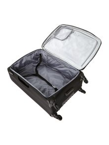 Cyberlite black & silver large rollercase