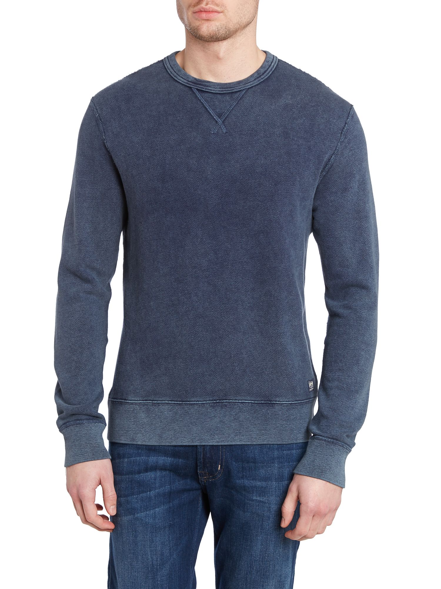 Crew neck knitted sweatshirt