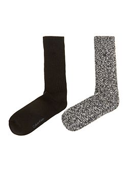 Two pack casual boot sock