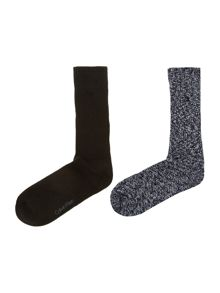 Calvin Klein Two pack casual boot sock