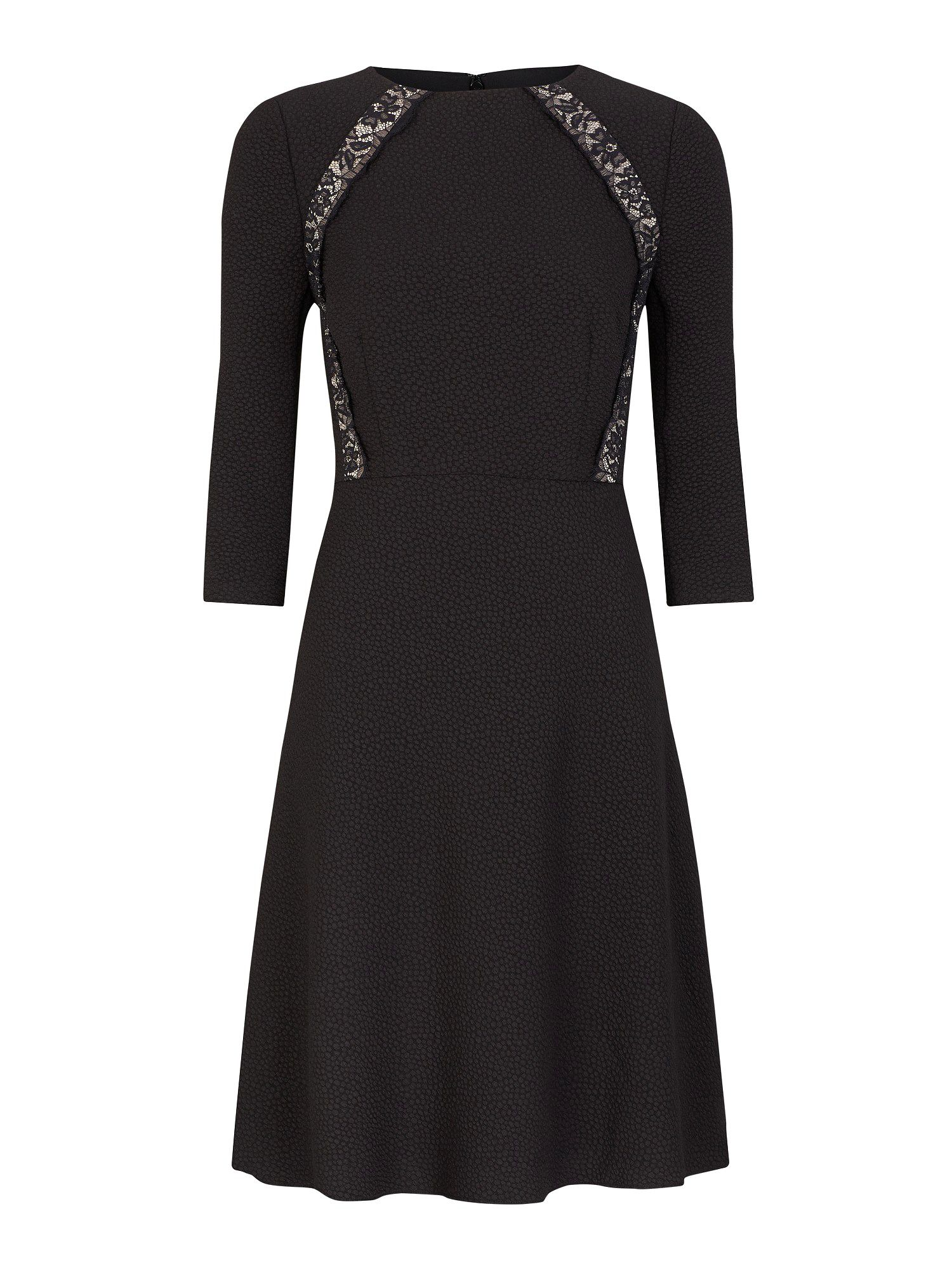 Black flippy lace insert dress