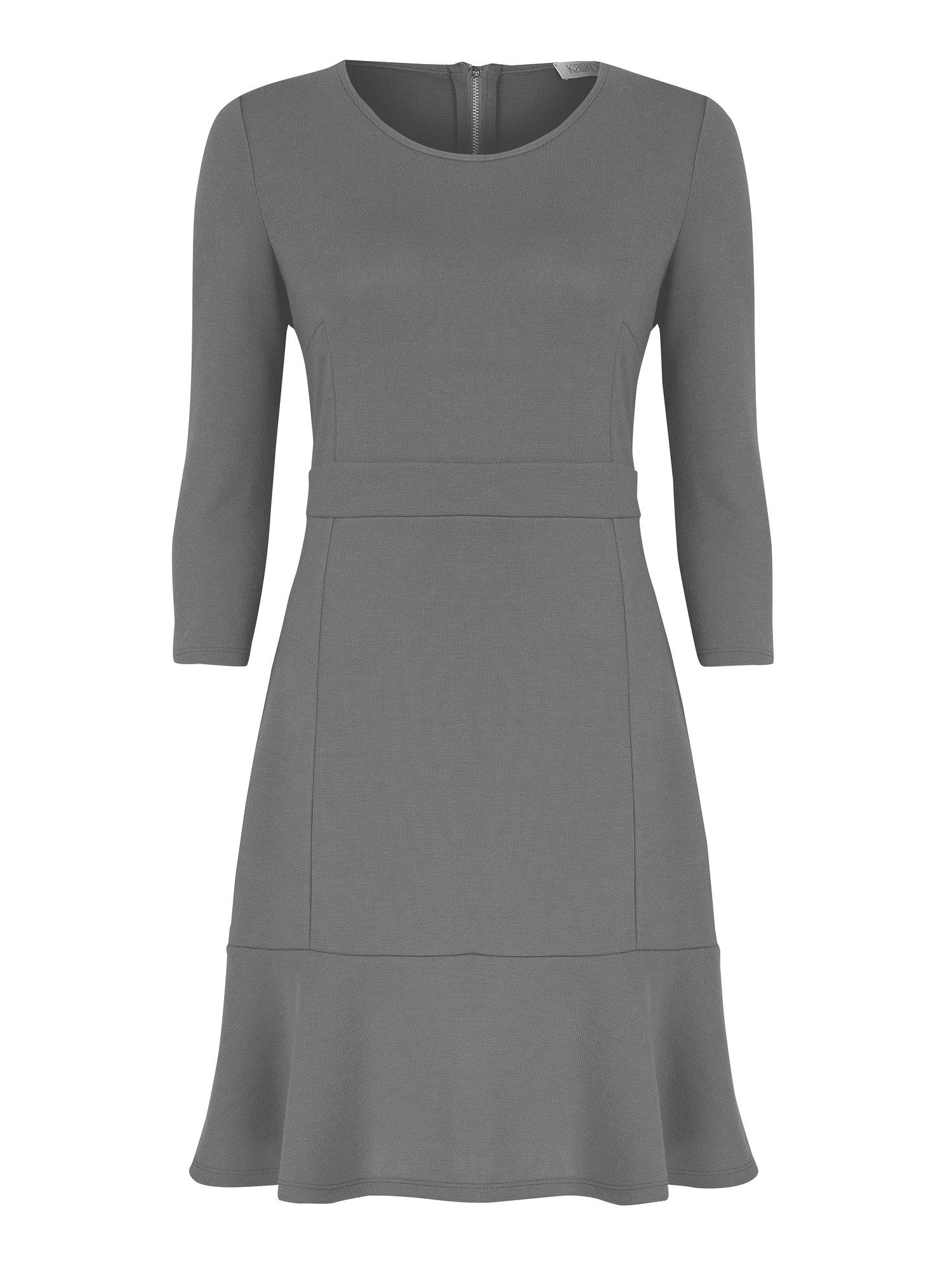 Grey flippy hem dress