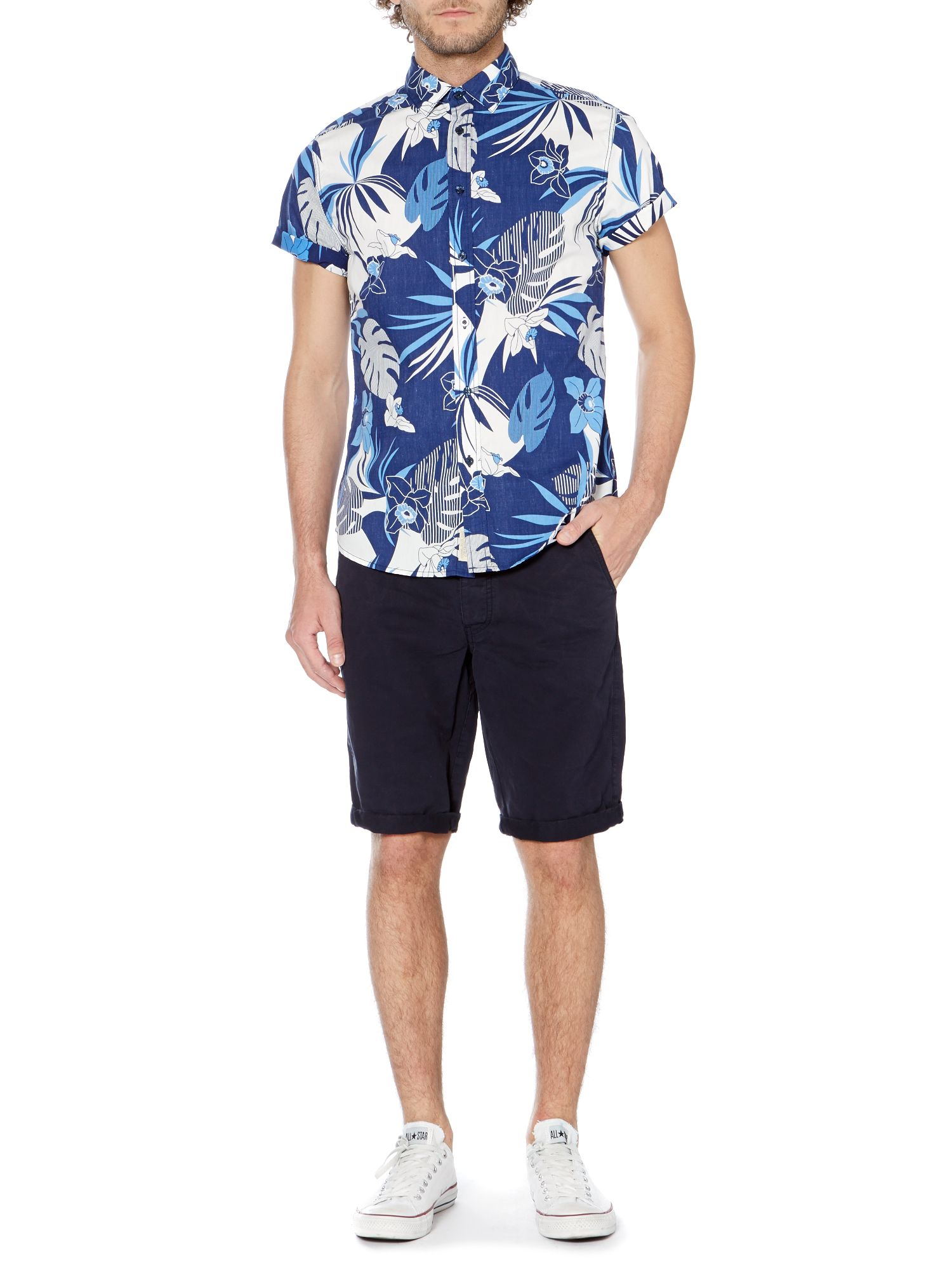 California reverse print short-sleeved shirt