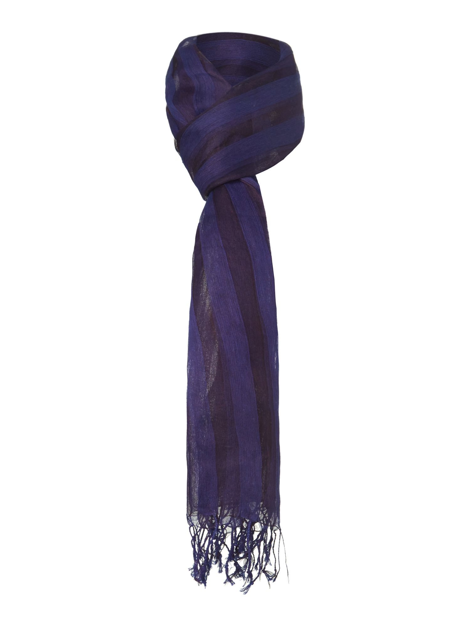 Shadow stripe silk scarf