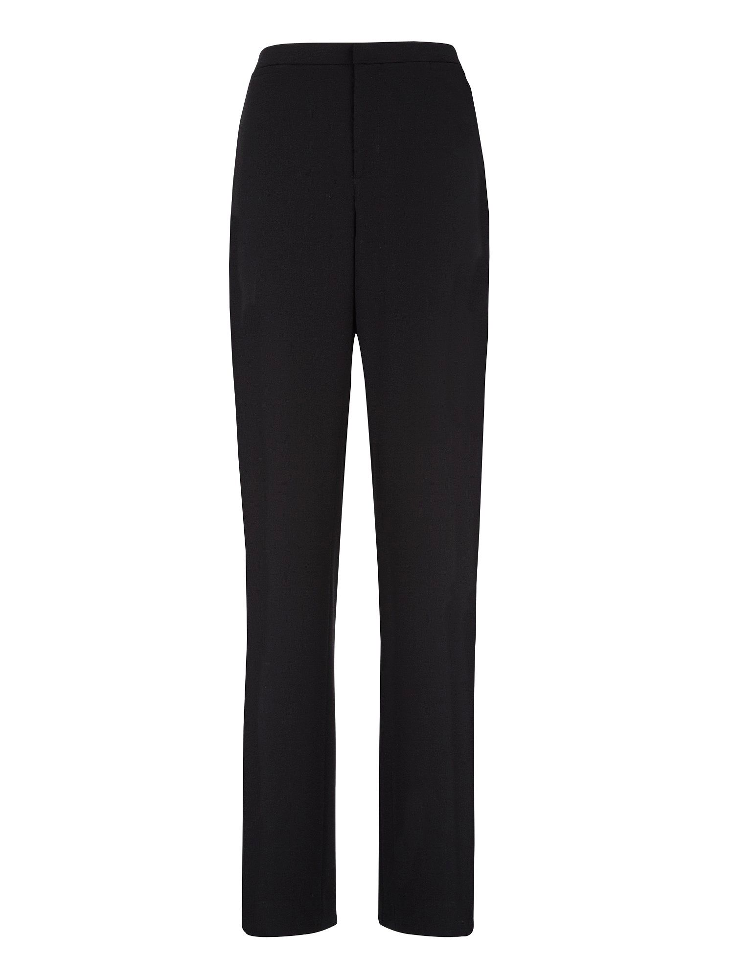 Black textured tailored trousers