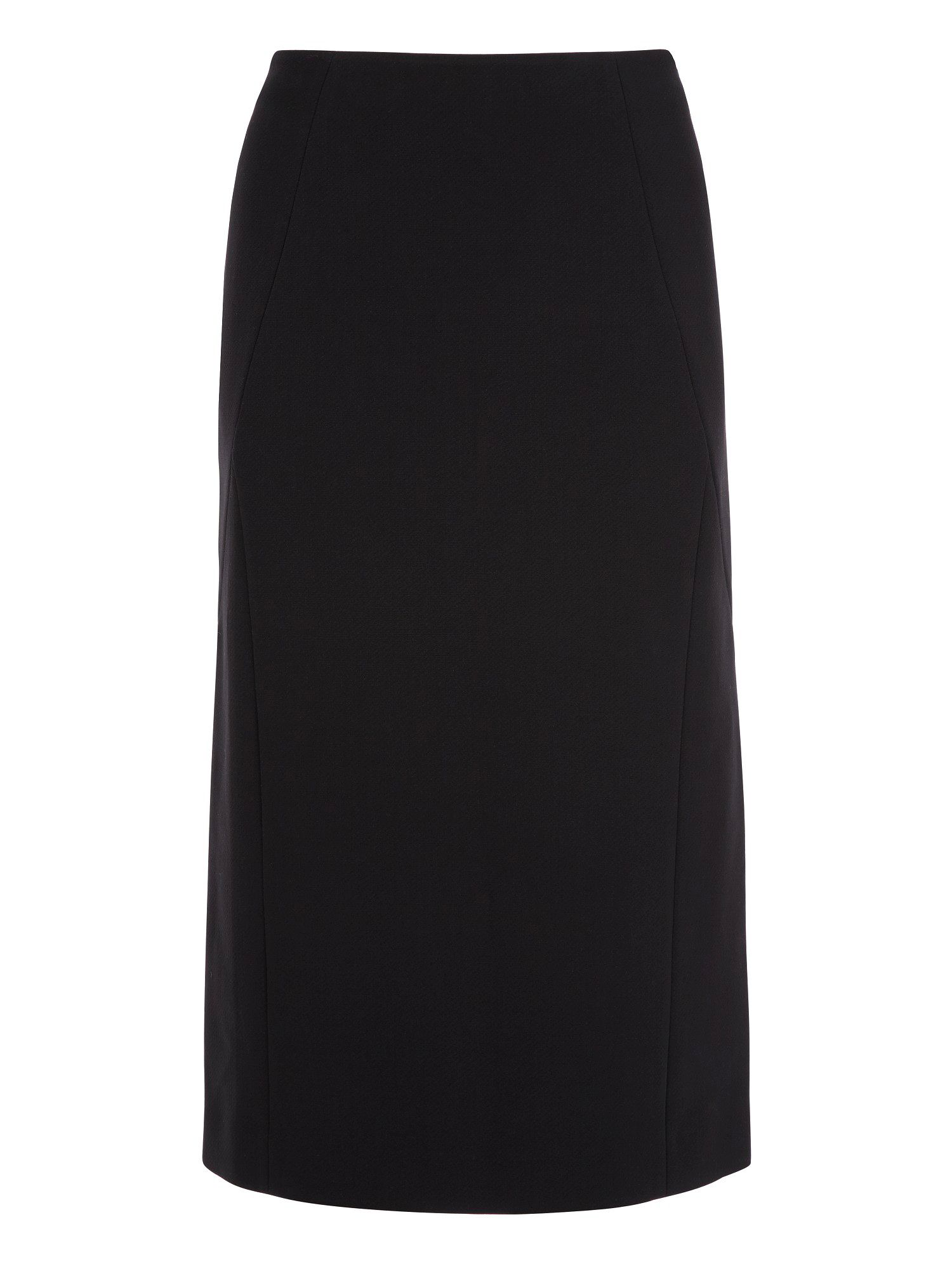 Straight black tailored skirt