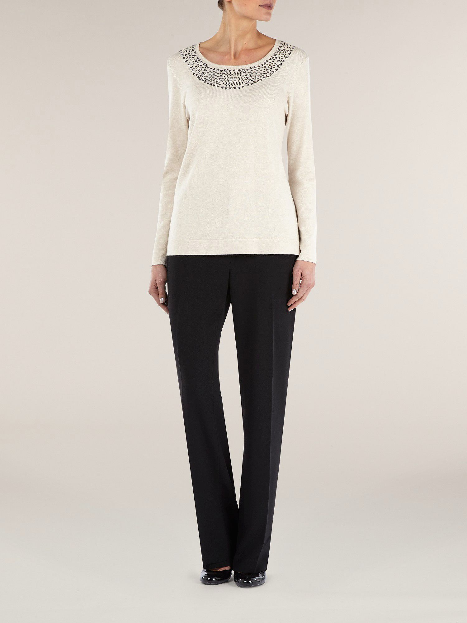 Stone embellished jumper