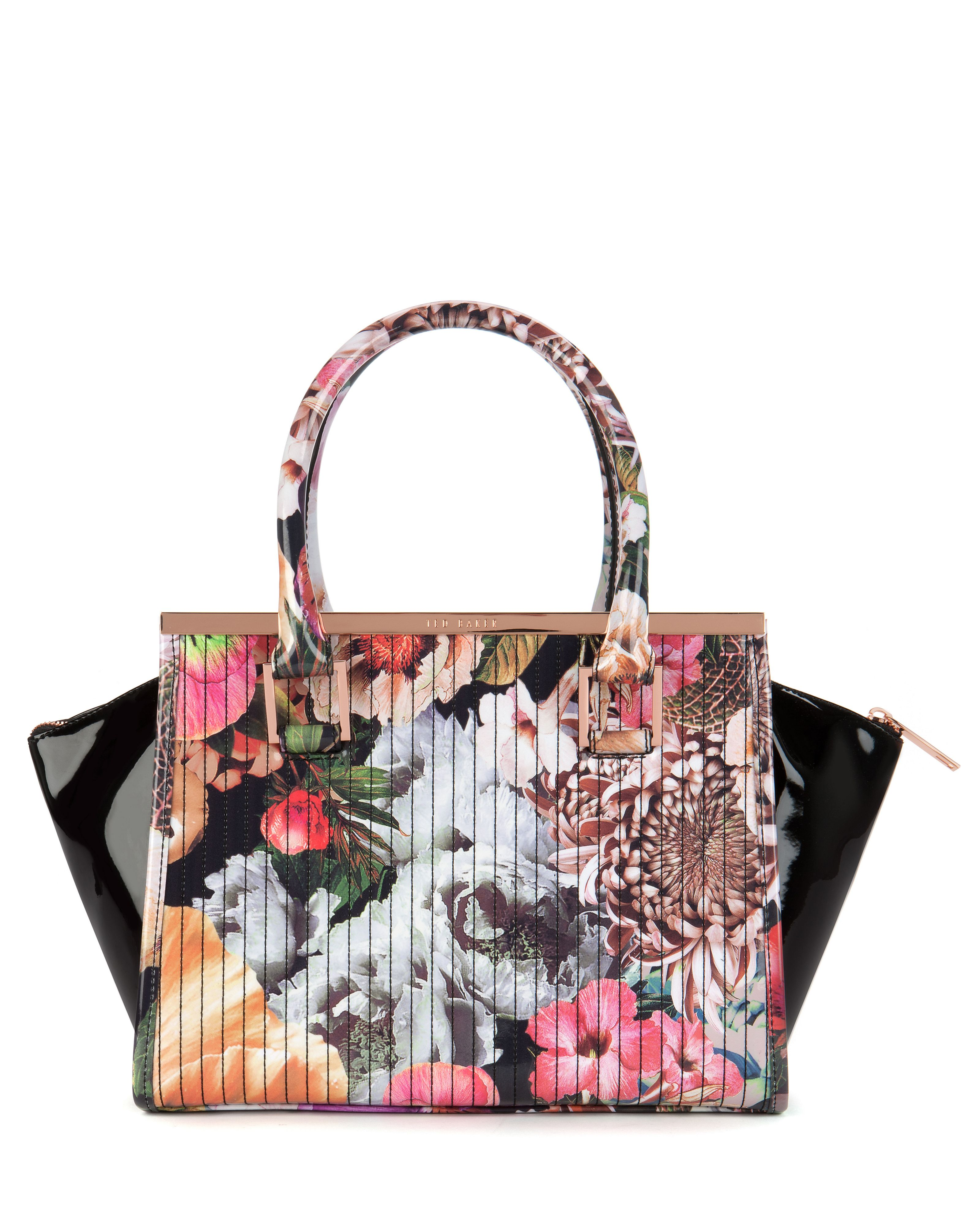 Haillie floral printed tote bag