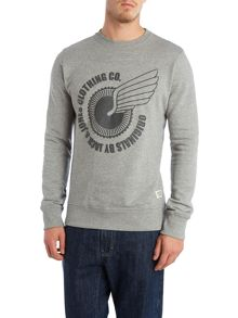 Grpahic crew sweater