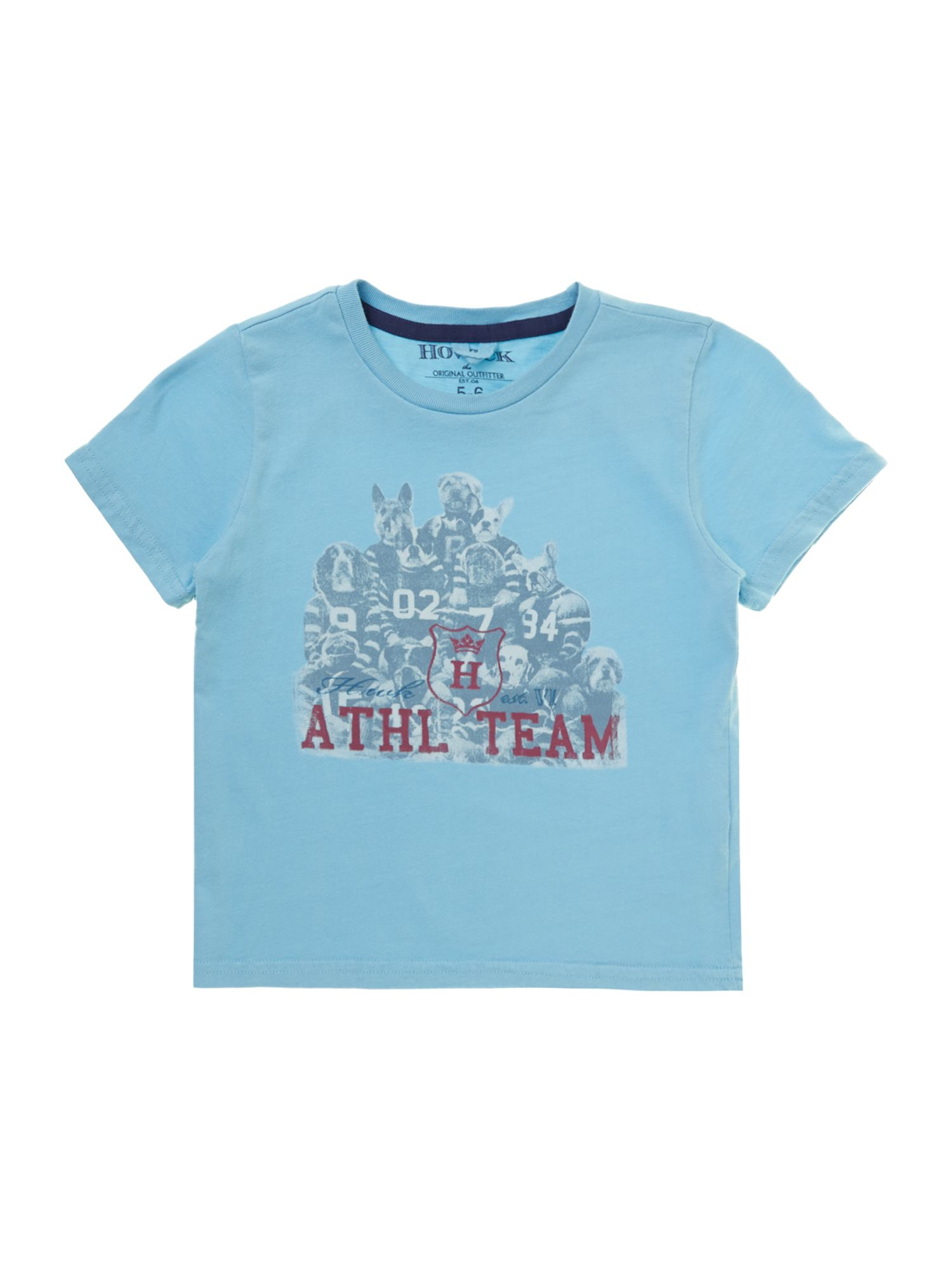 Boys athletic dogs graphic t-shirt