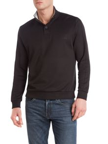 Three quarter button sweatshirt