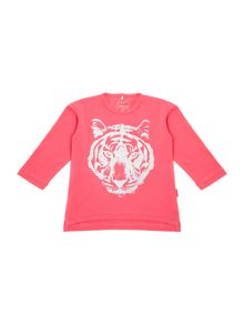 Girl`s lion print t-shirt
