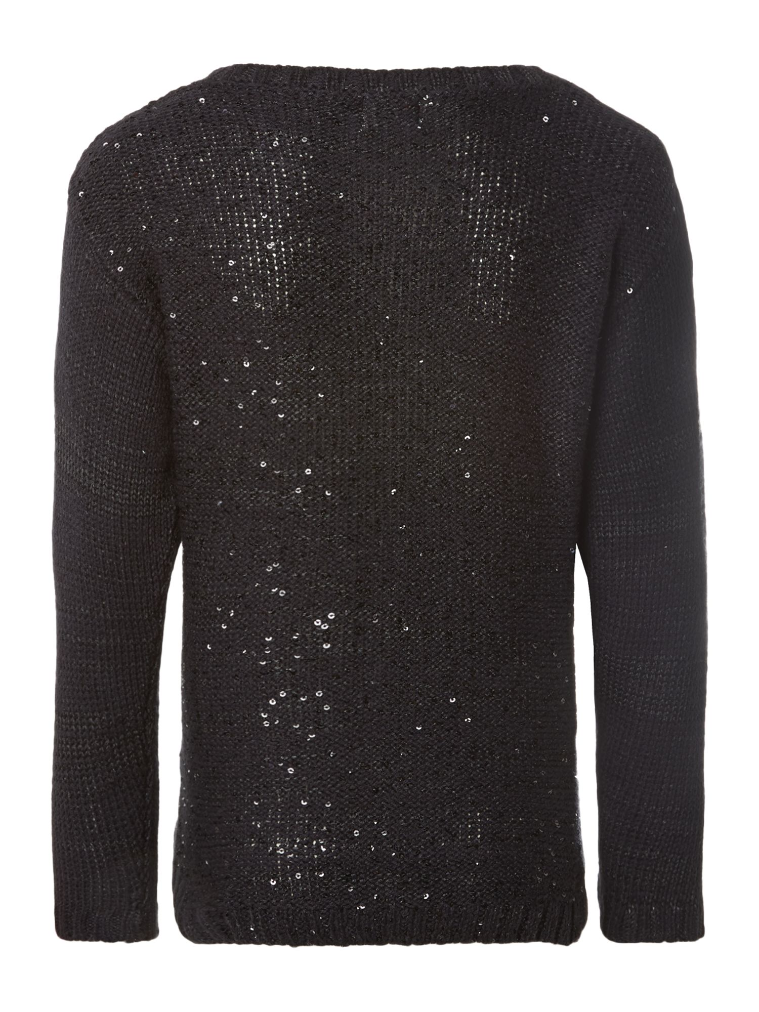 Girl`s sequin knitted jumper