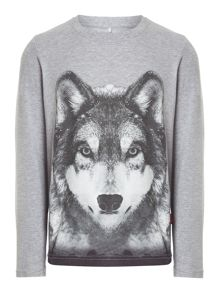 name it Boy`s wolf print t-shirt