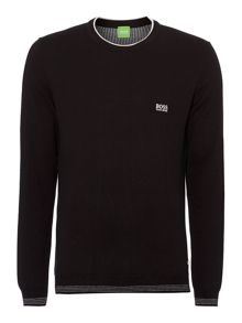 Crew neck logo knit
