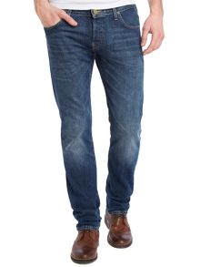 Powell slim fit mid wash jeans