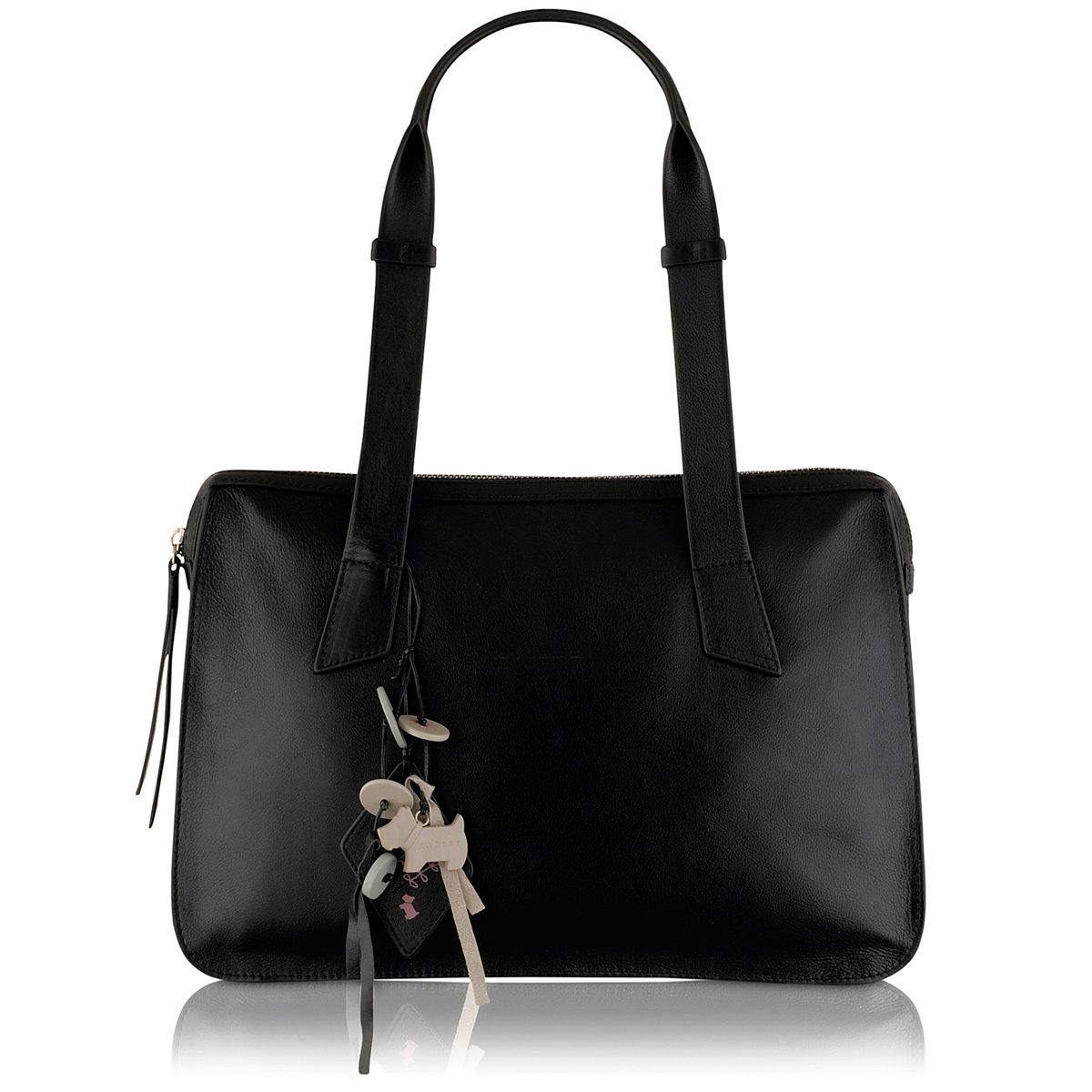 Maiden black medium leather shoulder bag