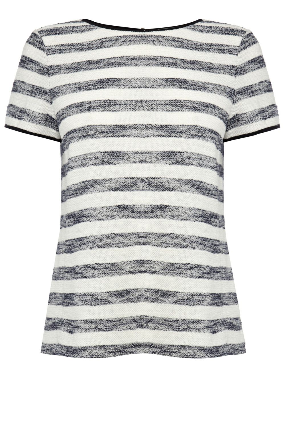 Sparkle stripe structured tee