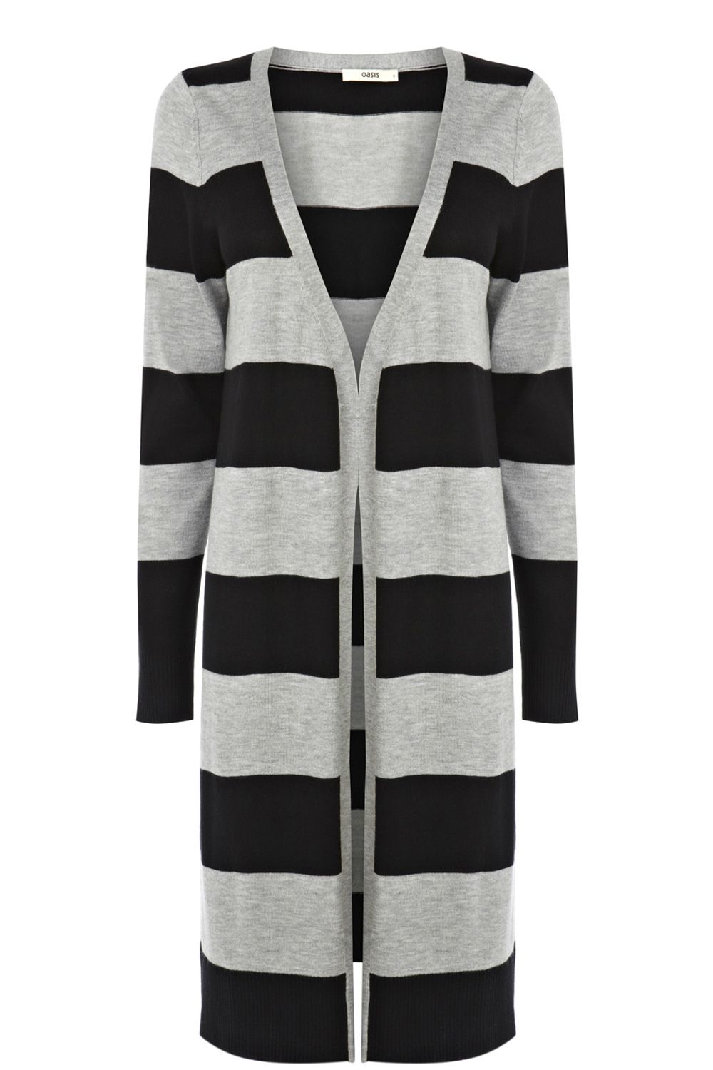Stripe edge to edge cardi