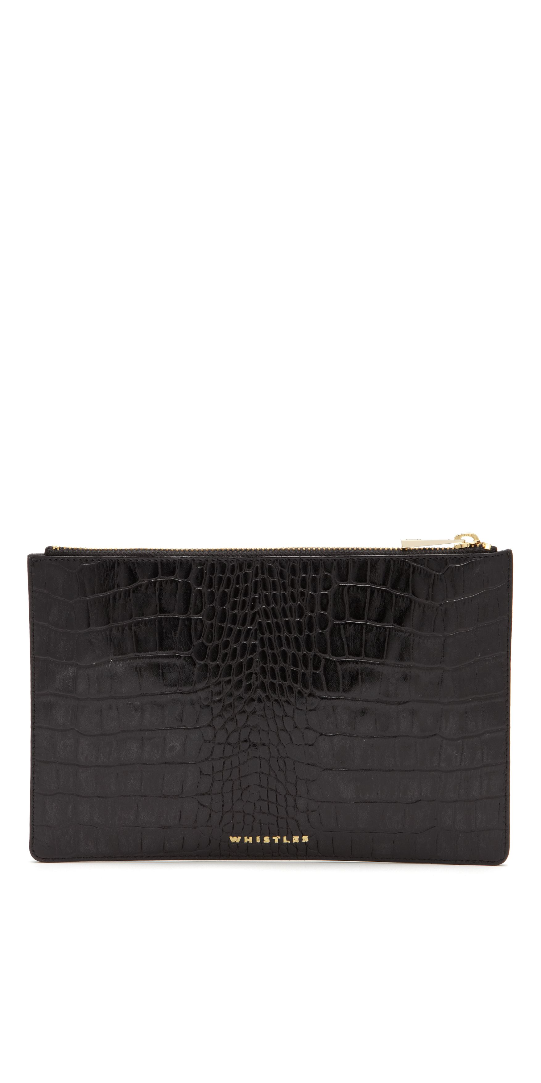 Small Shiny Croc Clutch