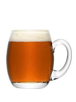 Bar Beer Tankard 500ml Clear