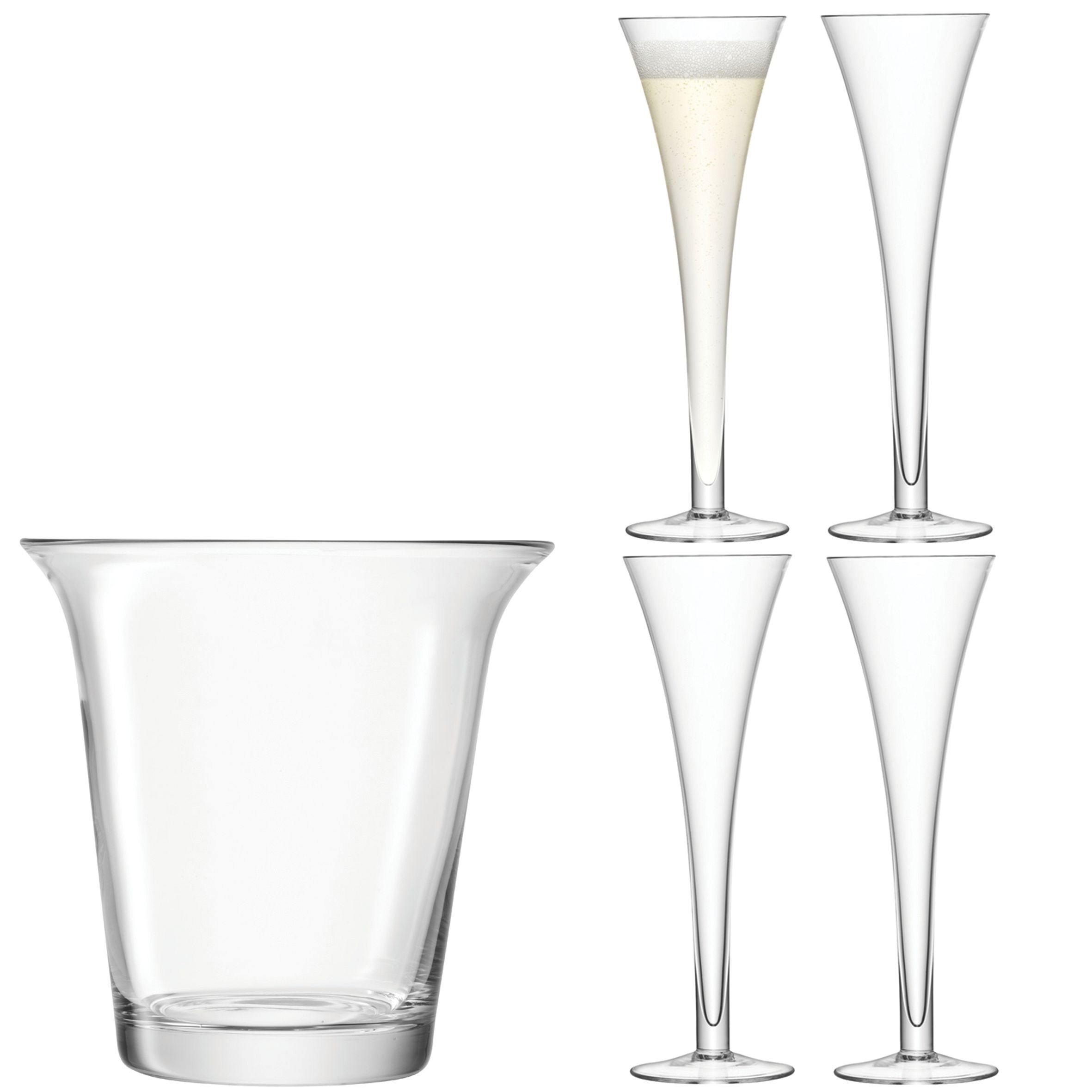 Bar Champagne Set, H24cm 200ml Clear