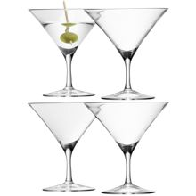 Bar Martini Glass, 180ml Clear set of 4