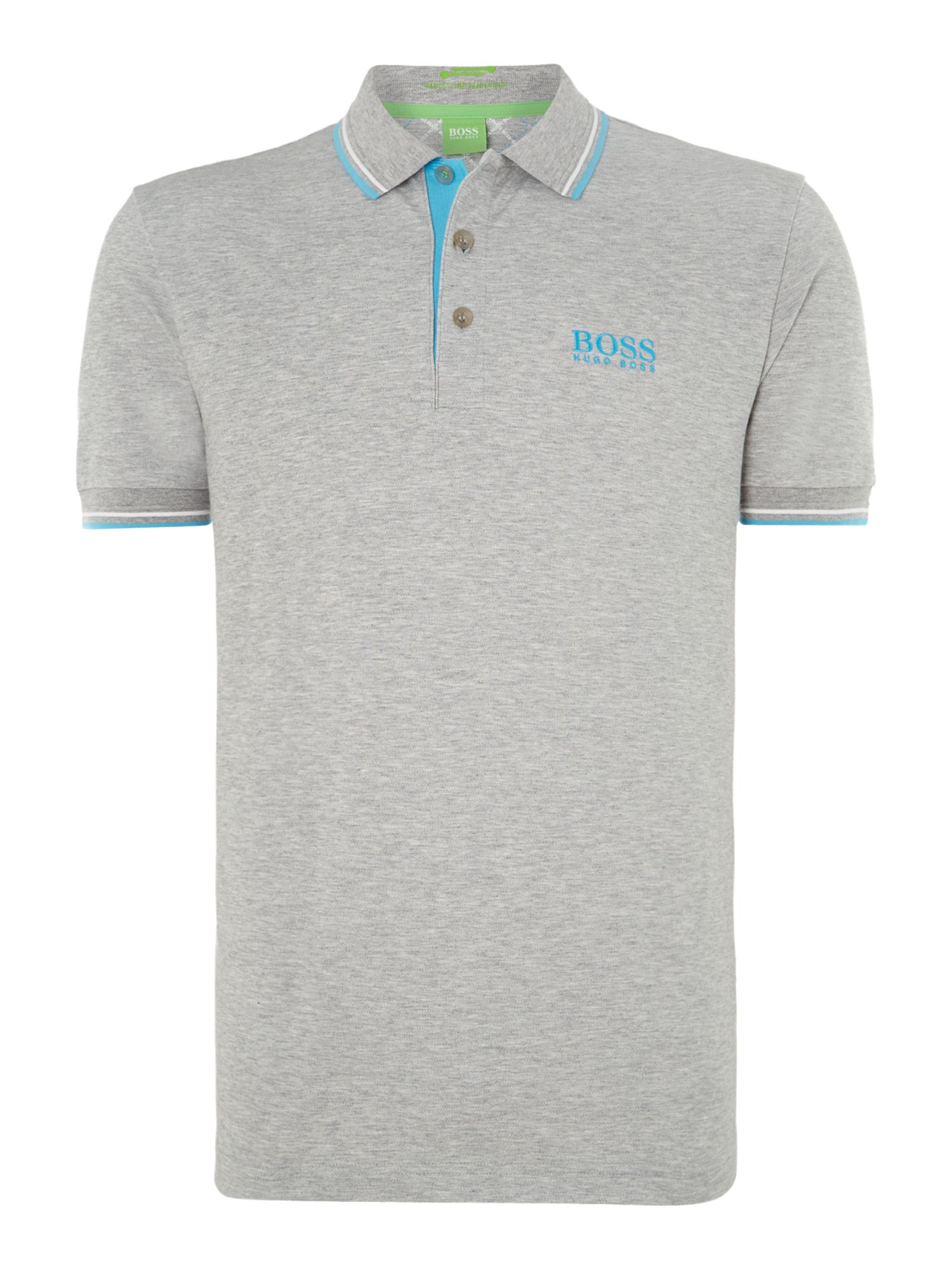 Men&39s Hugo Boss Golf logo polo shirt Grey