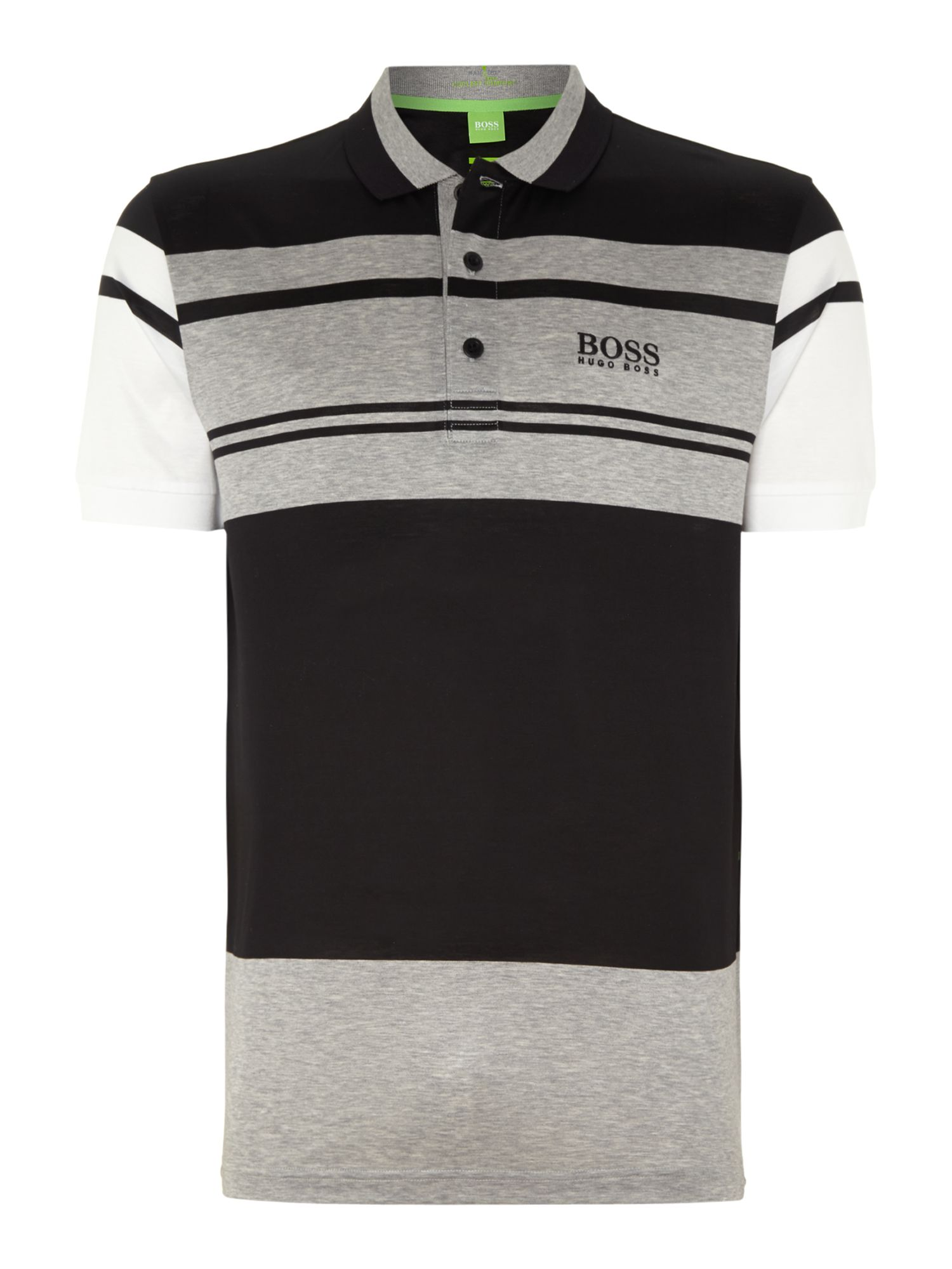 Men&39s Hugo Boss Golf logo polo shirt Black