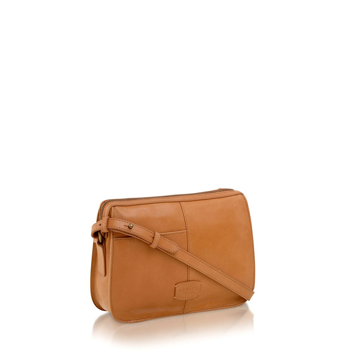 Maiden tan small leather cross body