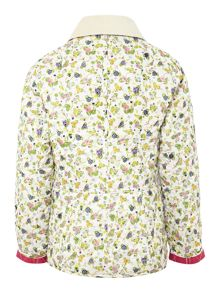 Girls Mae Liddesdale floral quilted jacket