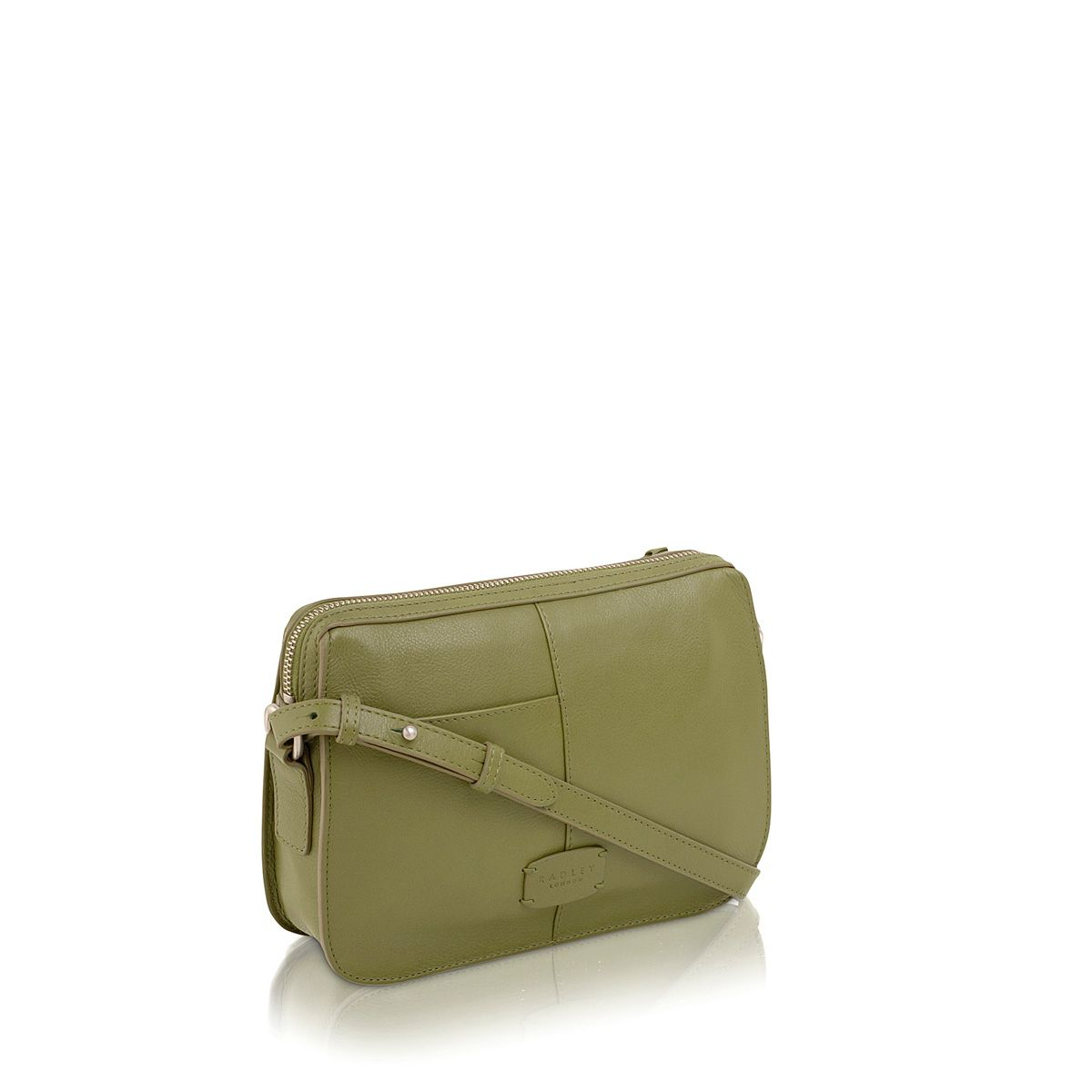 Maiden green small leather cross body bag