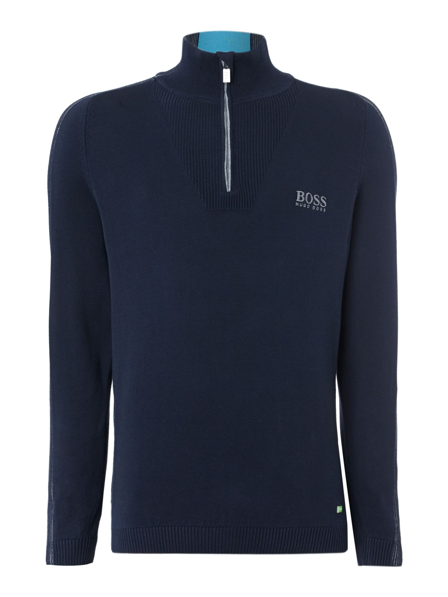 Men&39s Hugo Boss Half zip up golf knitwear Navy