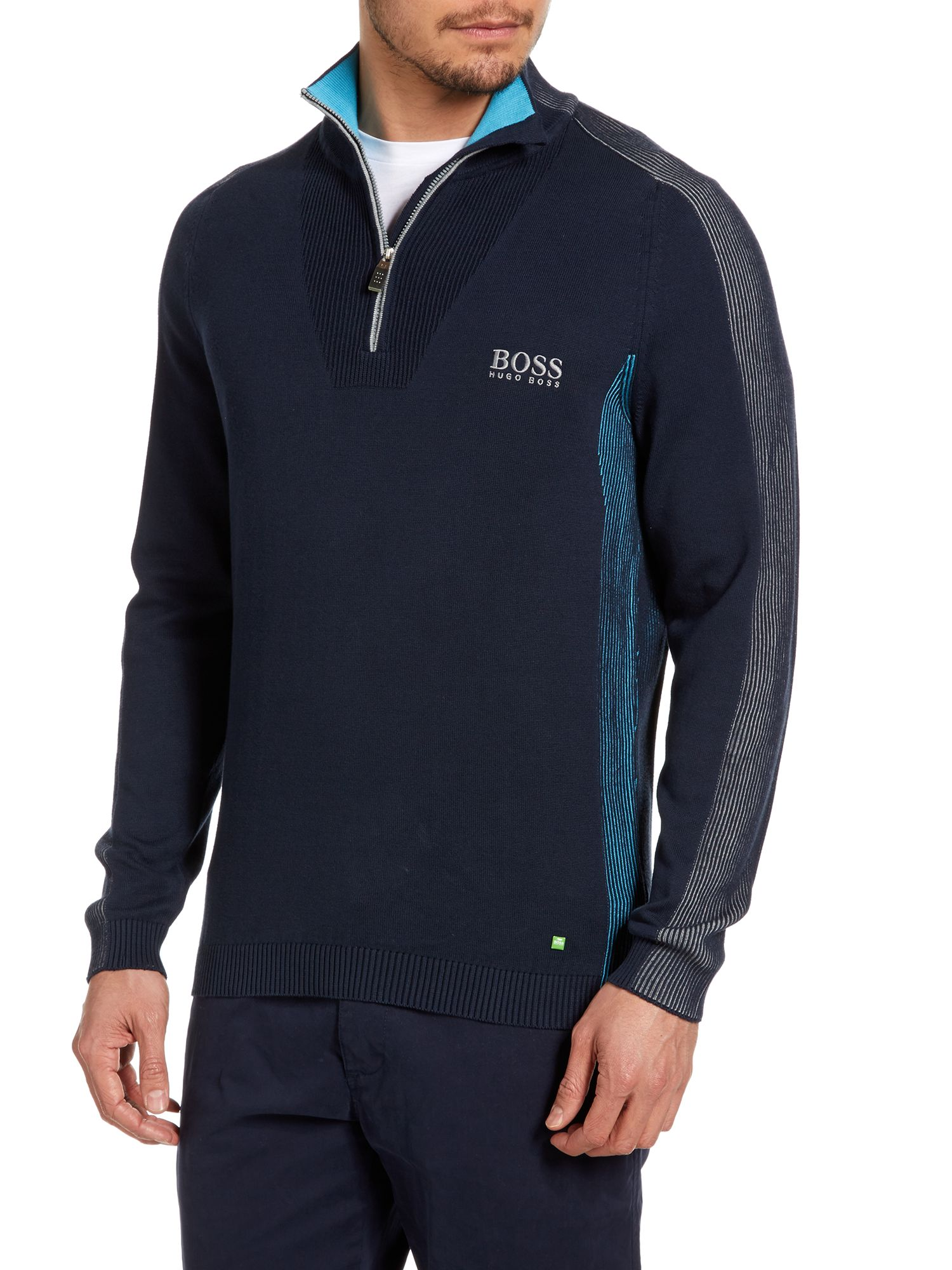 Half zip up golf knitwear