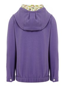 Girls floral hooded top