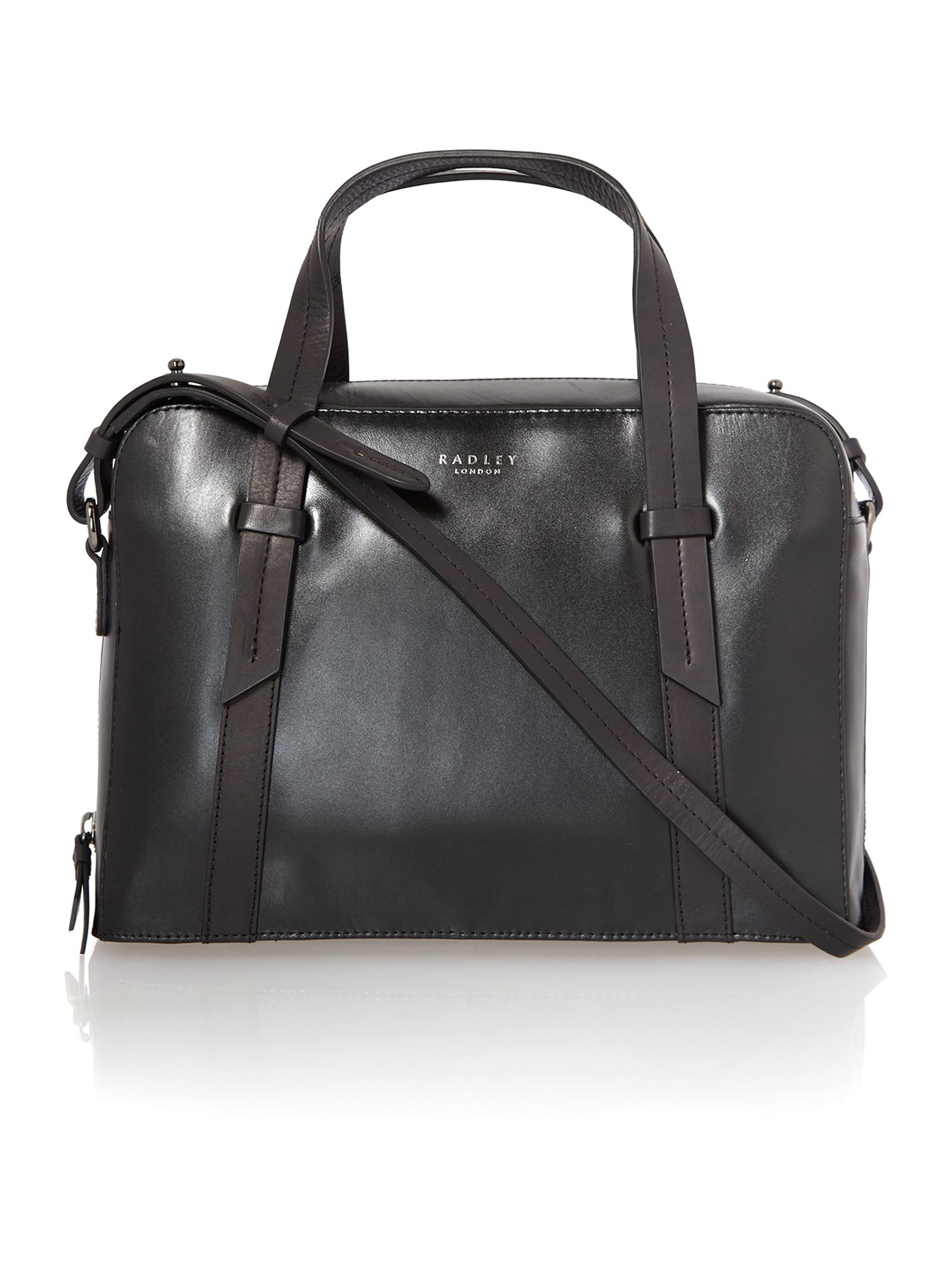 Malton black medium cross body tote bag