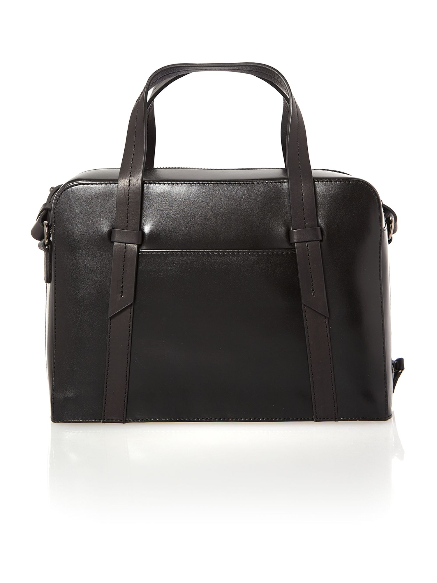 Malton black medium leather crossbody tote bag