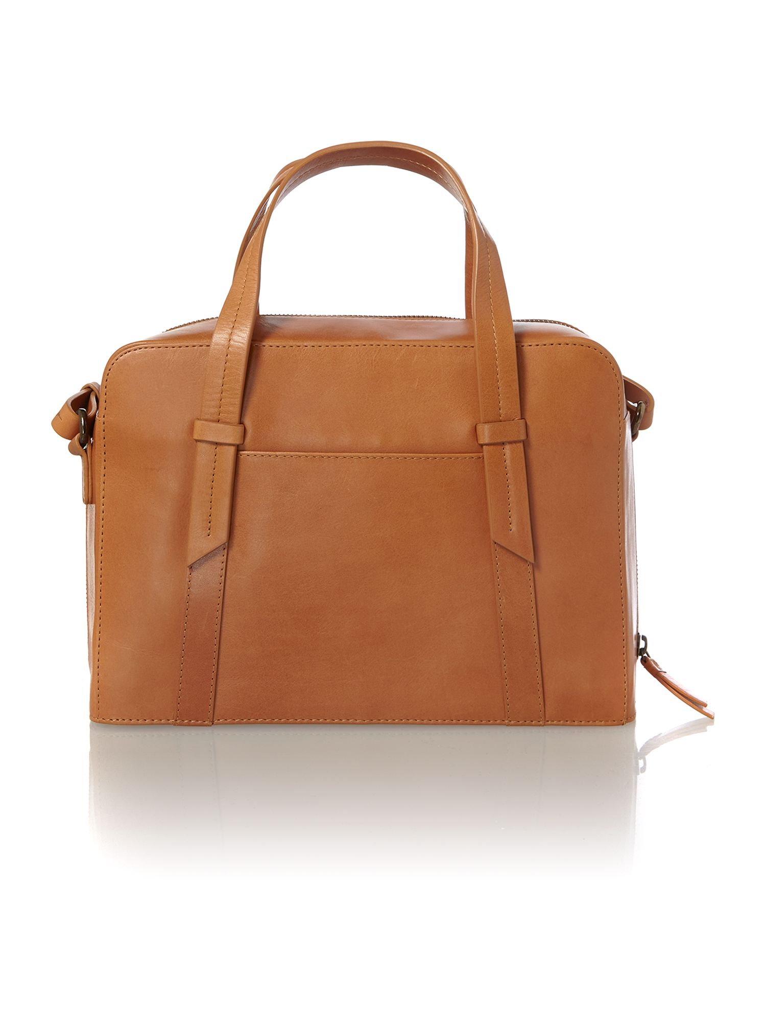 Malton tan medium cross body tote bag