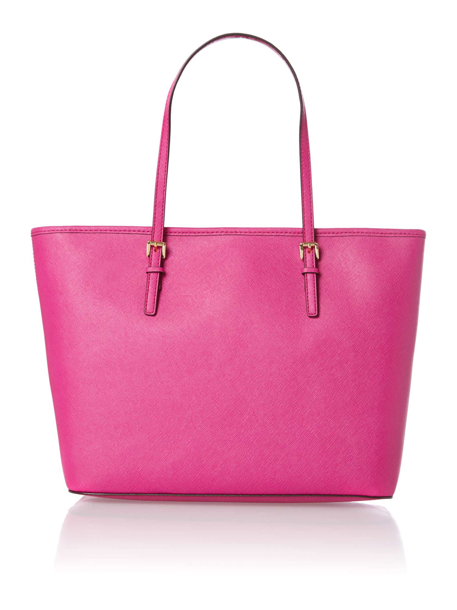 Jet set travel medium pink tote bag