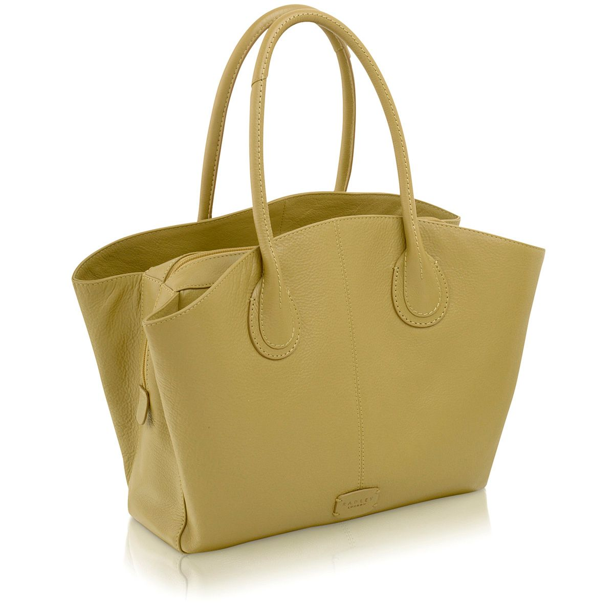 Overton green large leather tote bag