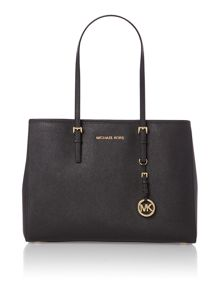 Michael Kors Jet set travel medium black tote bag