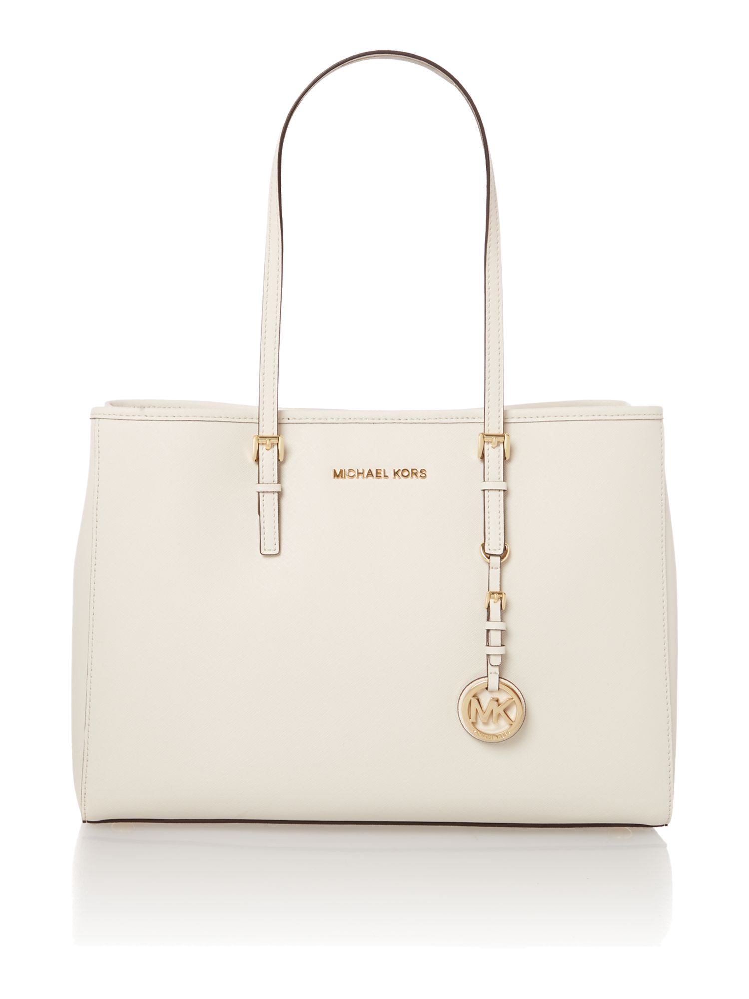 Jet set travel medium natural tote bag