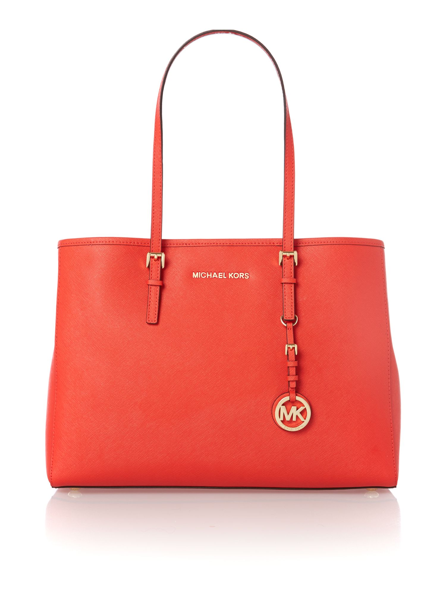 Jet set travel medium red tote bag