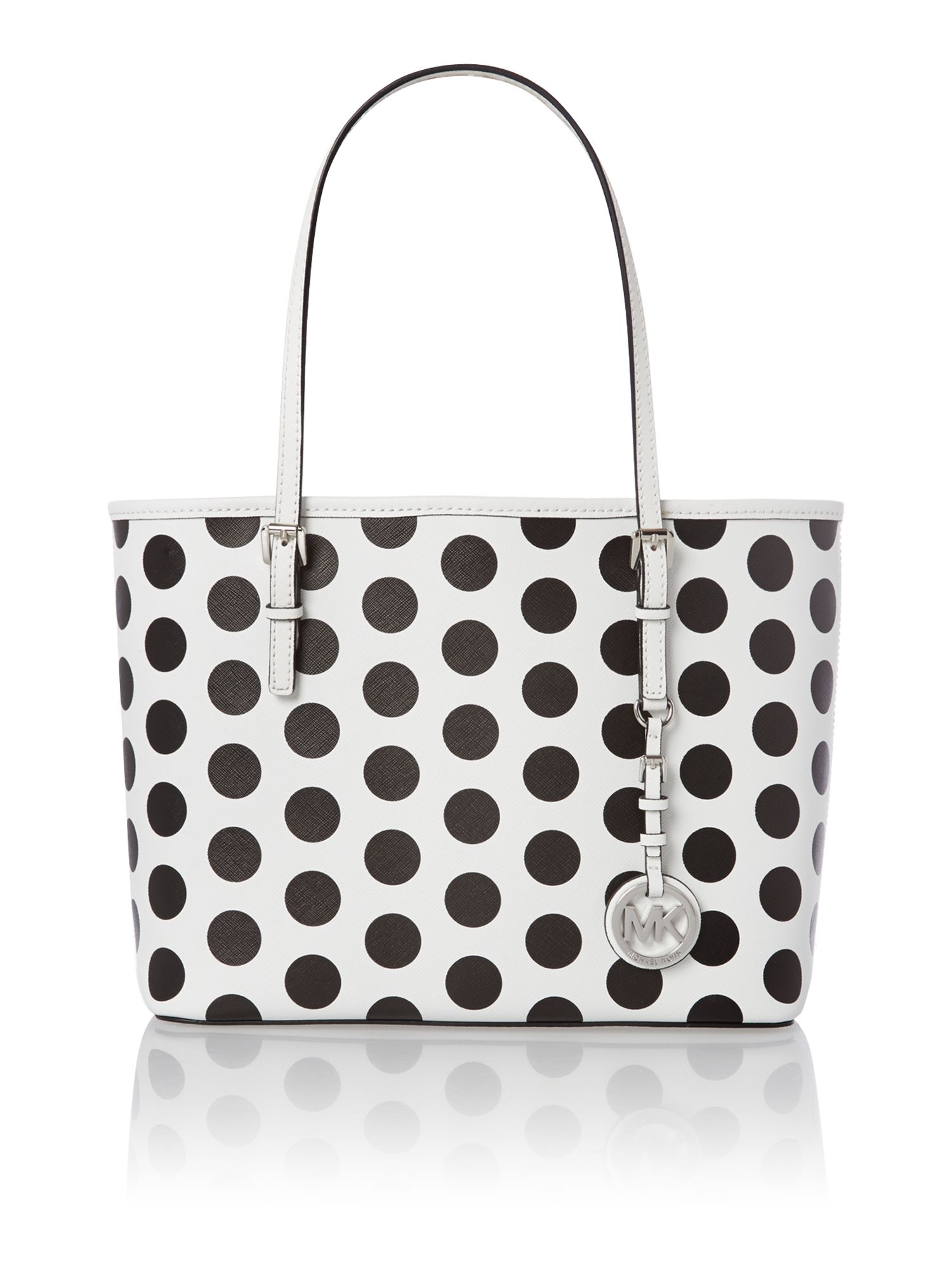 Jet set travel mono dot small tote bag